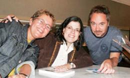 Liliane Yusim (locutora), Maria Estrella e Maurício Valladares (produtor) (2)