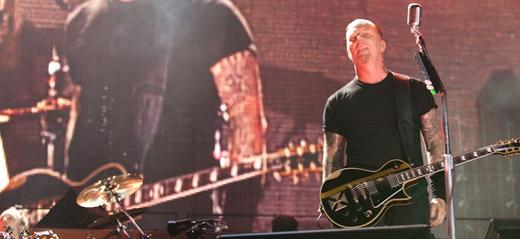 James Hetfield voltou a 'sentir a troca de energia' com o público brasileiro, ontem, no Morumbi