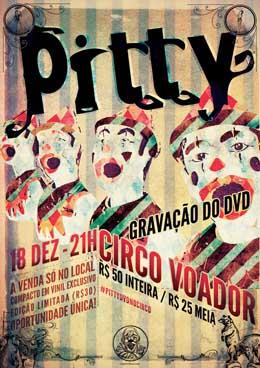 Cartaz da gravação do DVD, no Circo Voador