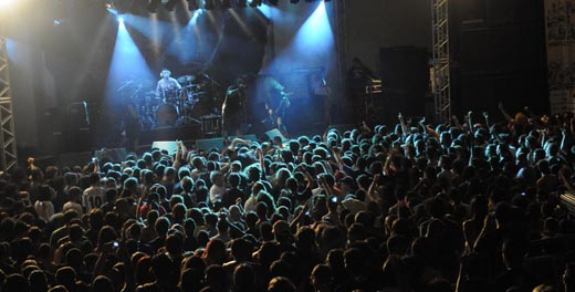 Revelação: vista geral de um dos shows do Festival Jambolada, realizado em 2009, em Uberlândia