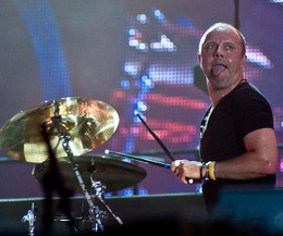As caras e bocas do batera Lars Ulrich