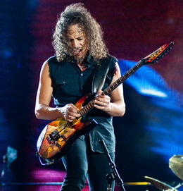 Kirk Hammett recheou a noite metalica de solos