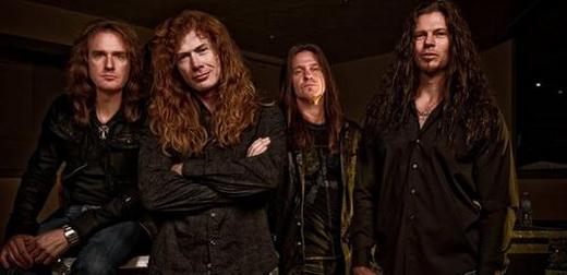 Megadeth versão 2011: David Ellefson, Dave Mustaine, Shawn Drover e Chris Broderick