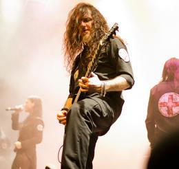 O guitarrista Cristiano Migliore: coadjuvante