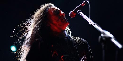 Tom Angelripper, líder do Sodom, que encontrou no Abril Pro Rock o maior público da turnê brasileira