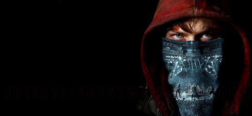 O personagem Trip com a bandana no rosto na qual aparece o Metallica tocando ao vivo em cena do filme