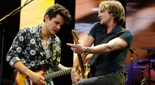 Nova safra: John Mayer e Keith Urban em ótima versão para o clássico 'Don't let Me Down', dos Beatles