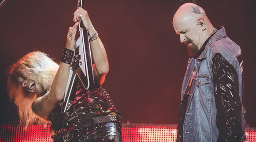 Richie e Halford, os dois destaques dos shows do Judas Priest, lado a lado no sabadão do Monsters Of Rock