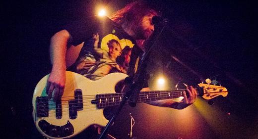O técnico baixista Gustaf Hielm, que também manda muito bem nos vocais de apoio do Pain Of Salvation