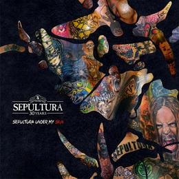 Capa de 'Under My Skin', com imagens de tatuagens