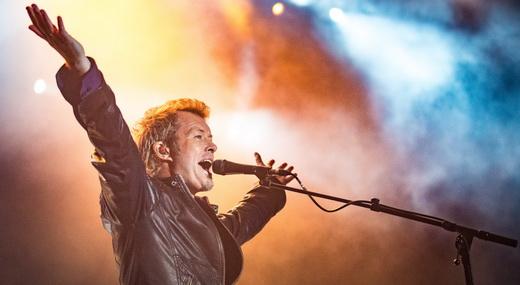 O comunicativo tecladista Magne Furuholmen, dono dos arranjos de quase todas as músicas do A-ha