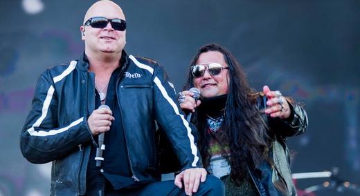 O gogó da era de ouro do Helloween, Michael Kiske, e o vocalista do Noturnall, Thiago Bianchi