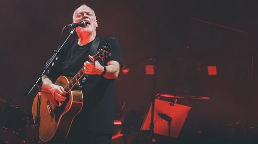 David Gilmour com o violão usado em 'Wish You Were Here', canção oficial da saudade de alguém