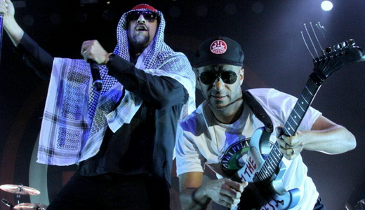 B-Real, rapper do Cypress Hill, tambem vocalista no Prophets Of Rage, ao lado do simpático Morello