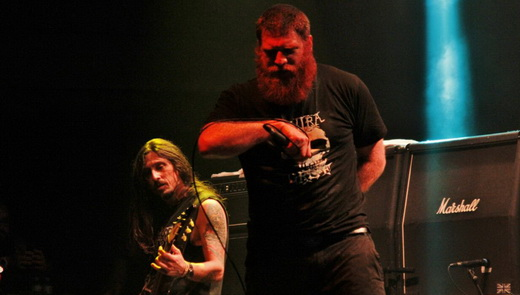 Jimmy e o guitarrista Donida, peça chave para se entender o Matanza e suas andanças pelo som pesado