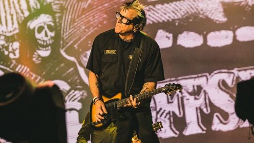 O guitarrista Noodles, que se mostra admirado com o público do Rock In Rio: 'sabem de divertir'