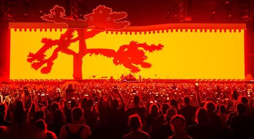Uma das variações do tema 'Joshua Tree', que explora a imensidão do telão do show do U2