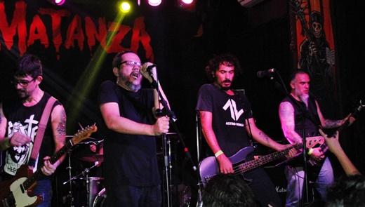 Matanza Inc: o guitarrista Marco Donida, Vital, o baixista Dony Escobar e o guitarrista Maurício Nogueira