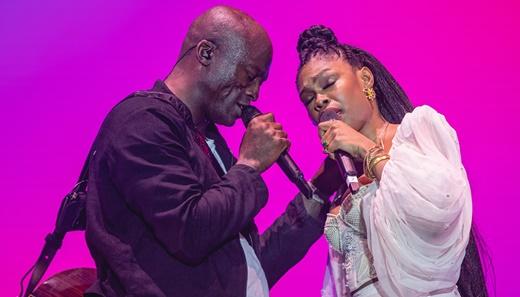 O dueto de Seal com a cantora brasileira Xênia França, que teve boa, mas discreta participação
